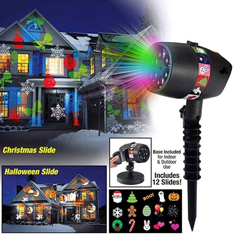 Stage Lighting Effect Efficient Christmas 12 Patterns Laser Snowflake Projector Light Outdoor Led Waterproof Disco Stage Lights Star Sky Lamp For Home Garden Making Things Convenient For Customers Lights & Lighting