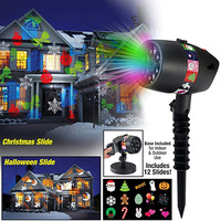 Christmas 12 Patterns Laser Snowflake Projector Light Outdoor LED Waterproof Disco Stage Lights Star Sky Lamp For Home Garden
