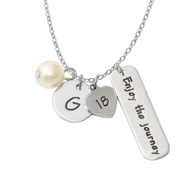 gold w necklaces chain graduation class categories charms necklace in cz birthstone pendants pendant of white