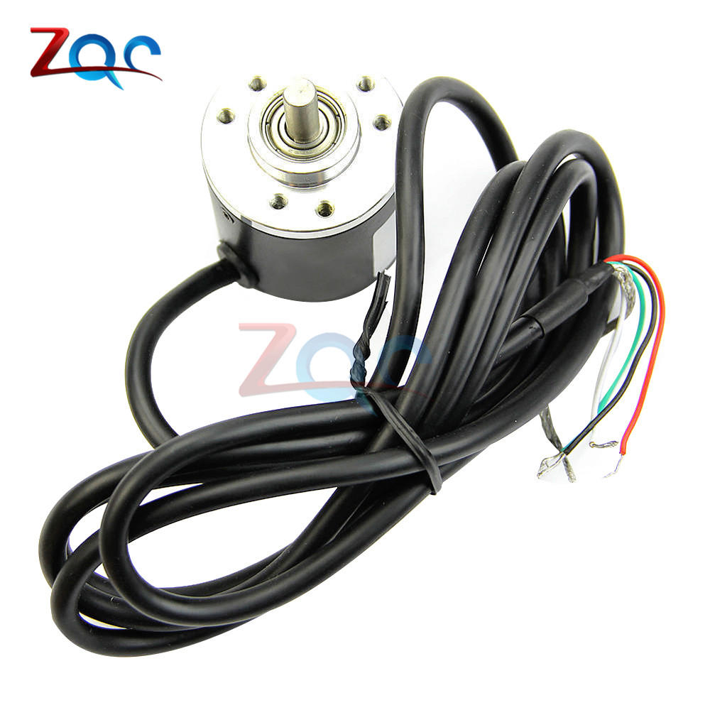 Encoder 600P/R Incremental Rotary Encoder AB phase encoder 5V-24V Two Phases Shaft dhc40m6 500 pulse encoder incremental solid shaft rotary encoder sensor