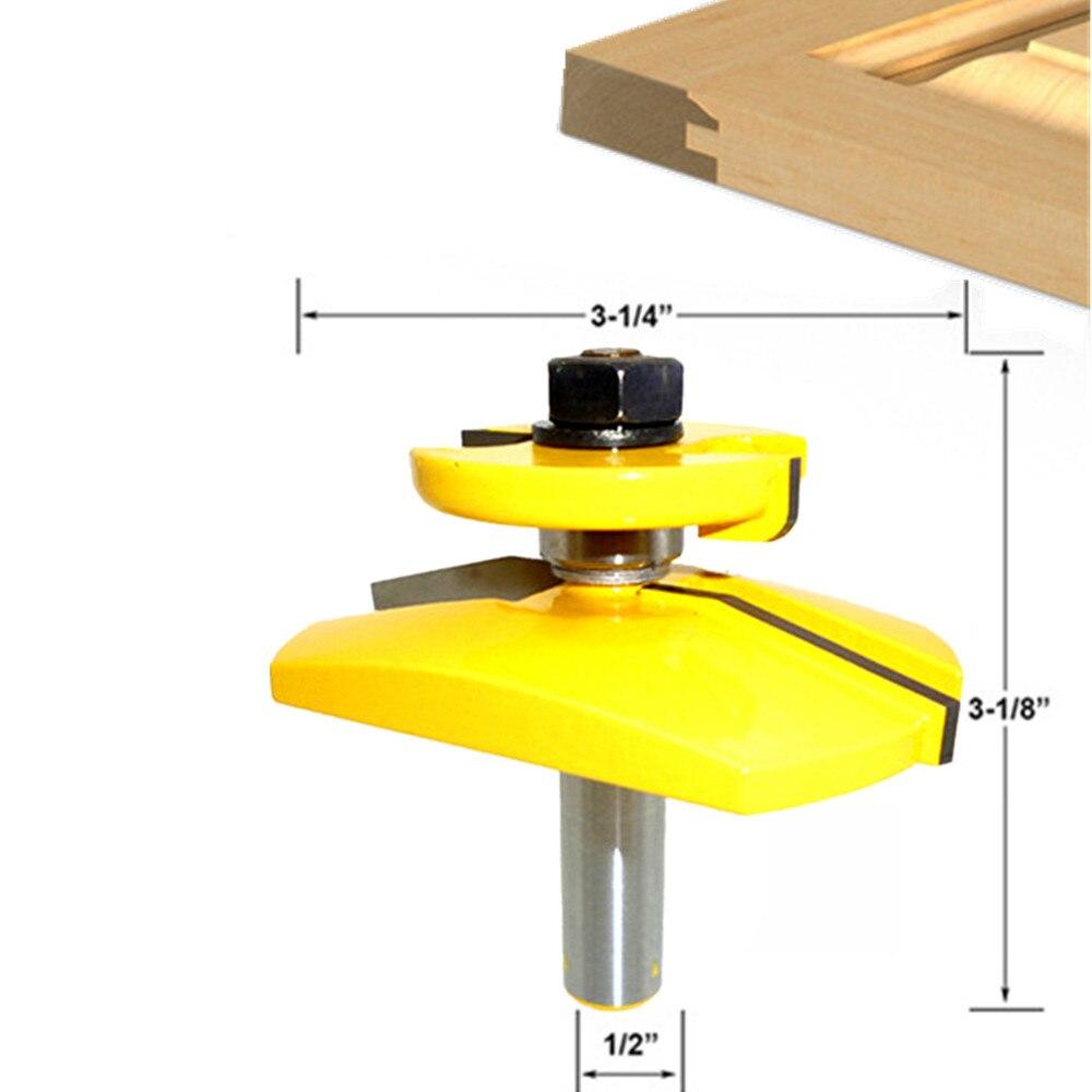 Holzbearbeitung bohrer erhöhten panel schranktür fenster holz router bit set bevel 12 schaft