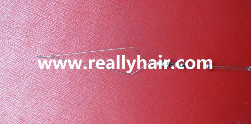Free shipping 50pcs/pack Quality nano hair extension tool/hair extension hook needle