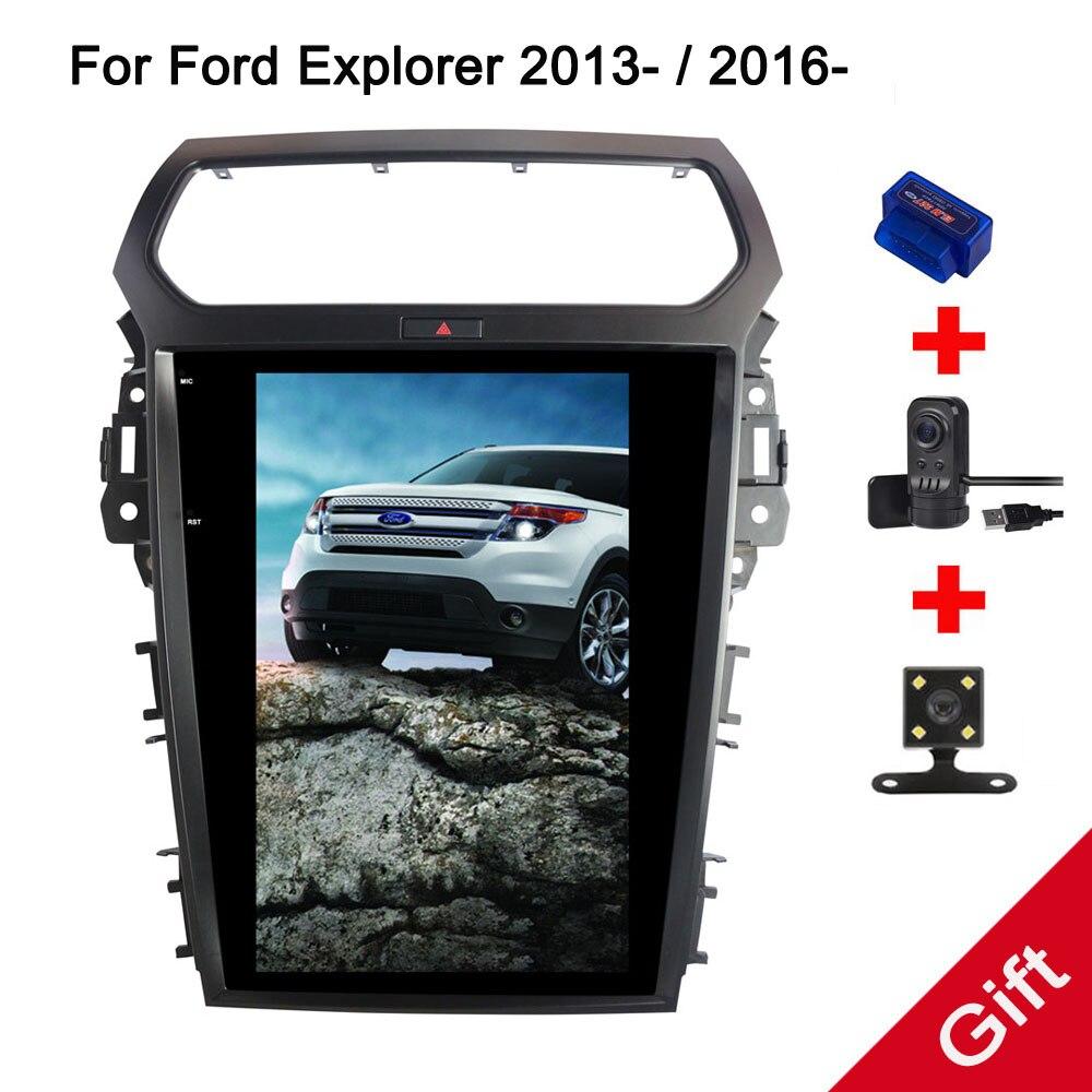 12.1 Tesla Android 7.1 Fit Ford Explorer 2013 2015 2016 2017 Car DVD Player Navigation GPS Radio