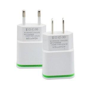 Image 4 - Cargador de teléfono de la UE nos enchufe de 2 puertos del USB de la luz LED cargador 5 V 2A adaptador de pared de carga del teléfono móvil para ios android teléfonos inteligentes