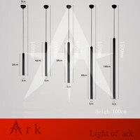Modern BLACK B Type Aluminum Cannular Led Pendant Lamp Cylinder Shape LED Hanging Light Custom Project