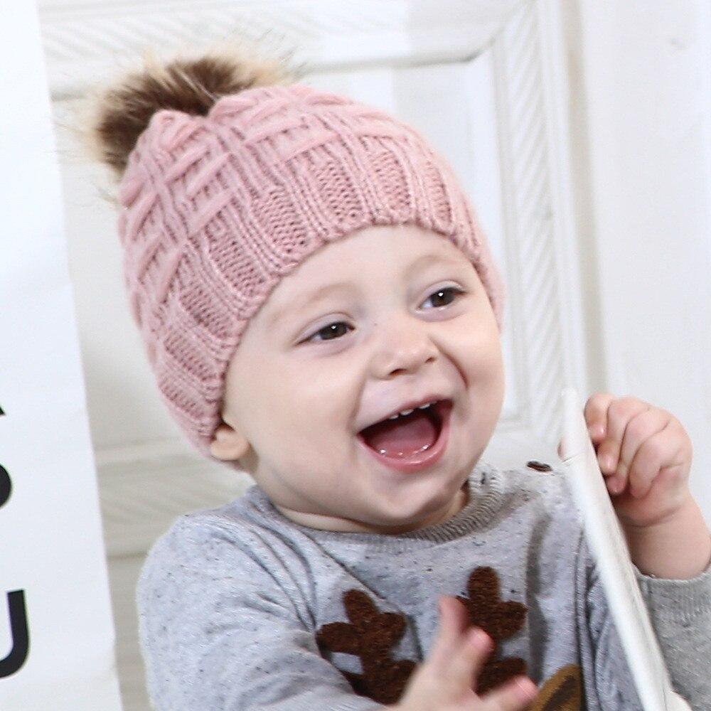 Cute Toddler Kids Baby Girls Boys Infant Warm Winter Knit Hat Crochet Beanie Cap