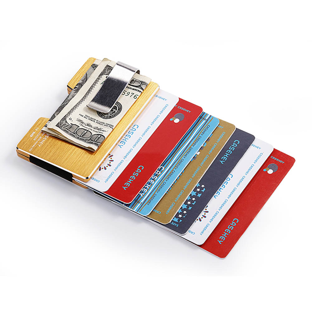 Wallet Purse Card-Holder Credit Rfid-Blocking Aluminum-Alloy Slim Cash Men Money Best-Sale-Wt