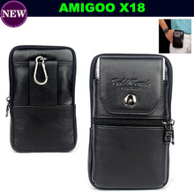 Luxury Genuine Leather Carry Belt Clip Pouch Waist Purse Case Cover for AMIGOO X18 5.5inch Mobile Phone Free Shipping