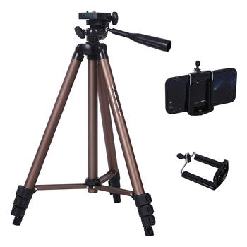 Profesjonalny statyw kamery stojak do Canon Nikon Sony lustrzanka cyfrowa kamera Mini przenośny statyw na aparat telefoniczny tanie i dobre opinie Punkt i Strzelać Kamery Smartfony Lustrzanki Kamera wideo Aluminium Mini statyw lekkie 1245 Fotulato