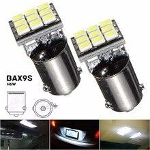 BAX9S H6W 1206 SMD 9 Светодиодные лампочки для автомобиля Номерные знаки для мотоциклов Географические карты дверь свет лампы DC12V чистый белый 6000 К стайлинга автомобилей