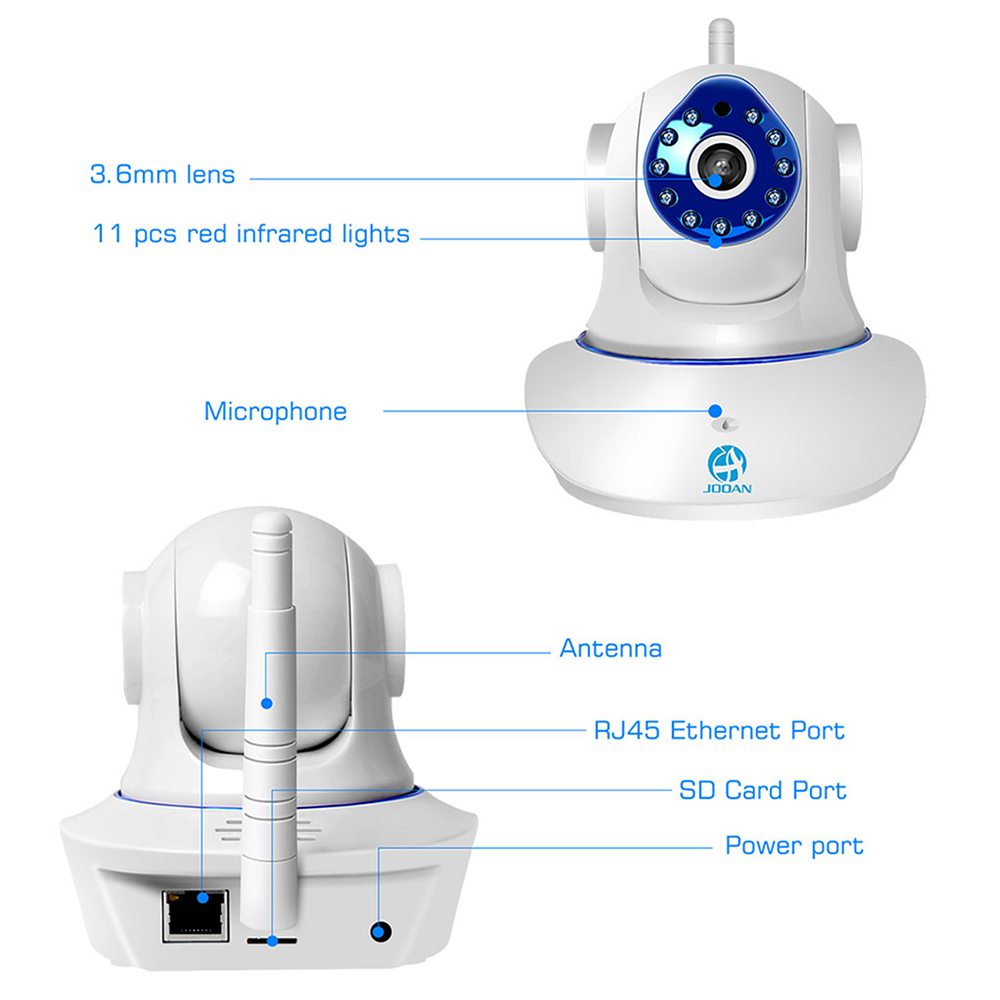 JOOAN Wireless IP Camera 720P 1080P HD smart WiFi Home Security IRCut Vision 5