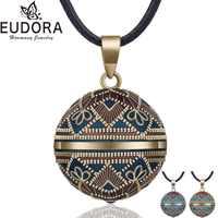 EUDORA Harmony Ball collar Vintage Chime Bola colgante para mujer joyería de moda regalo mexicano Bola de embarazo 45 ''Cadena 3 estilo