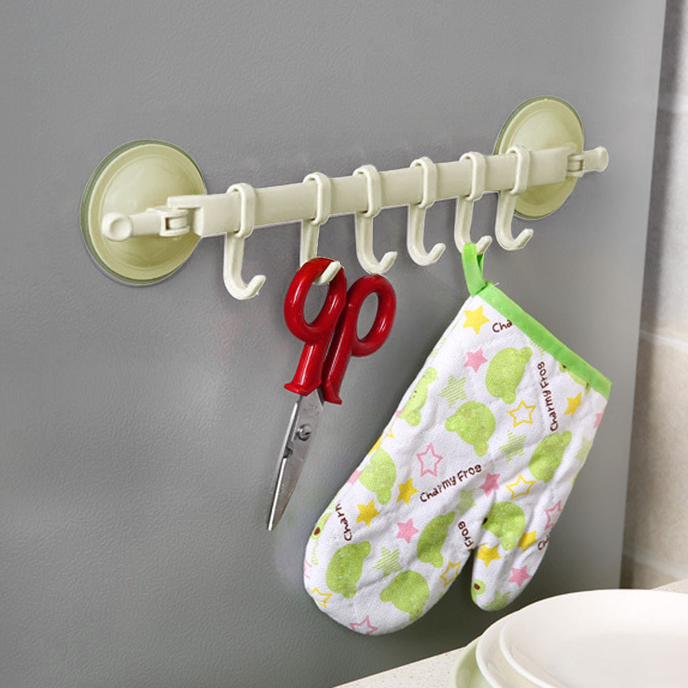 Top Quality Supper Power Vaccum Sucker Stand Hook Kitchen Bathroom Hanger White
