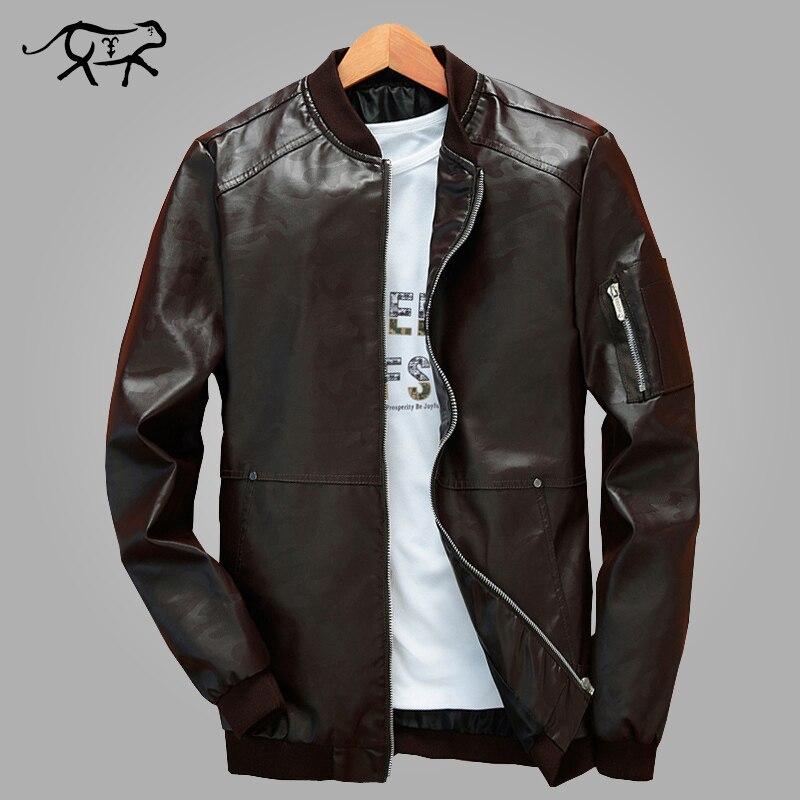 95473b0b3c54 2018 Nouvelle Arrivée En Cuir Vestes Hommes veste masculine Automne Outwear  Hommes de Manteaux de Printemps