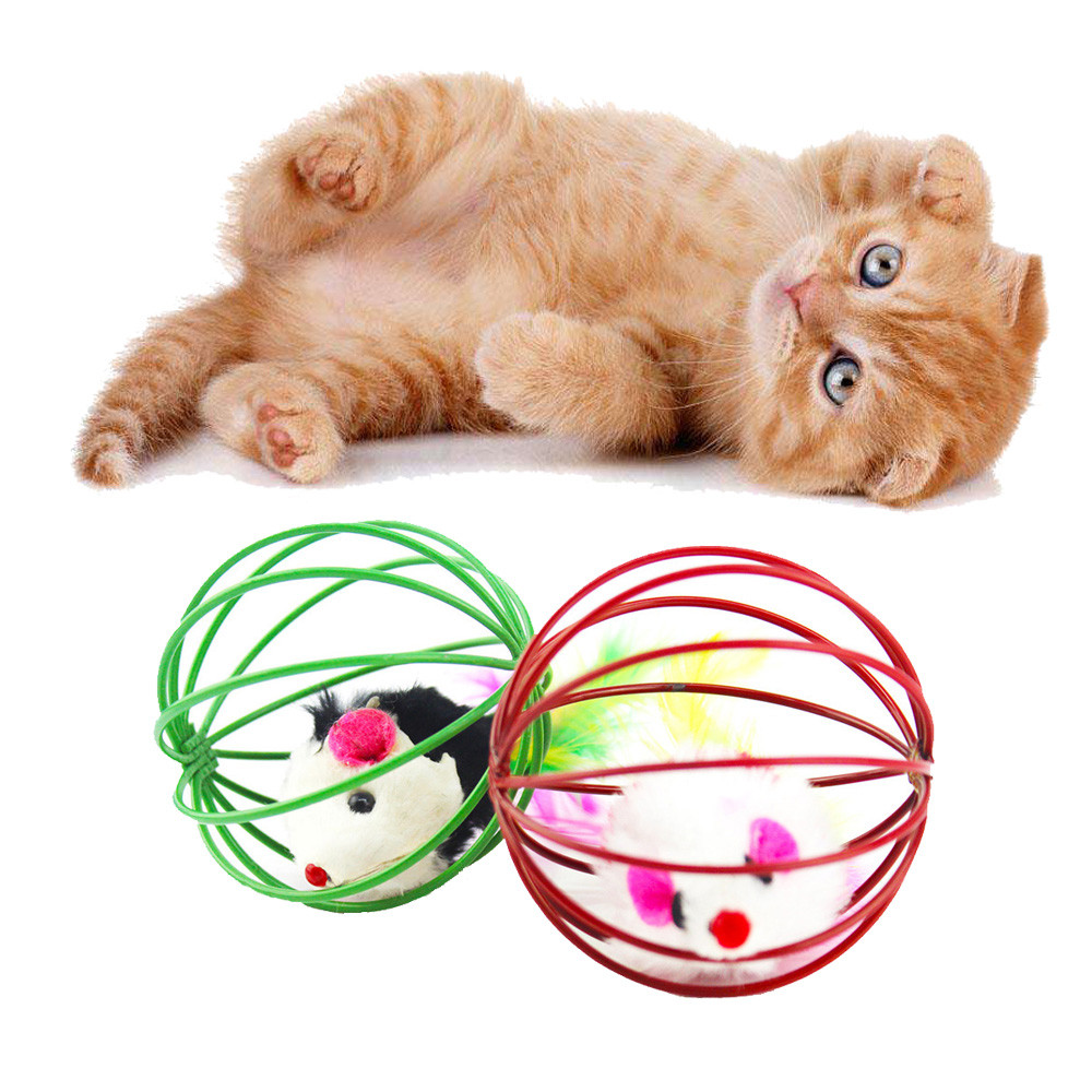 Cat Toy Mouse Mice Toys Solid Rabbit Hair Pet Ball Toys For Cats All Seasons Interactive Toy Cat Training Pet Products HZ0007 (4)