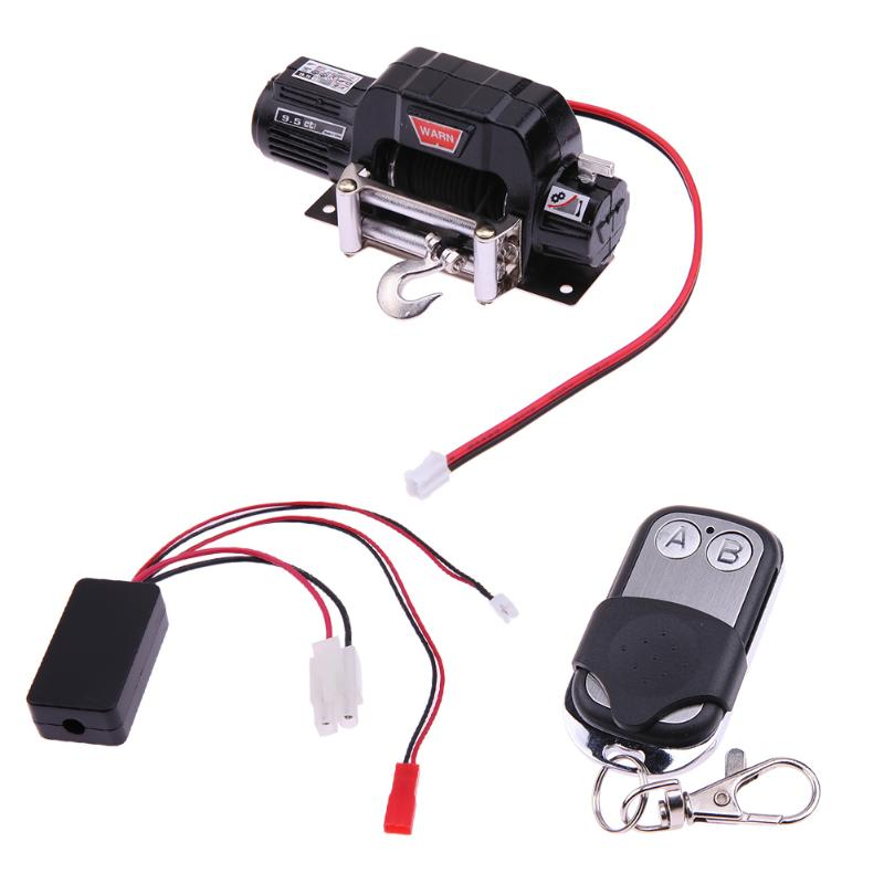 RC Crawler Car Winch Wireless Remote Control Receiver For 1:10 Redcat Rc4wd Tamiya Axial Remote Car Accessories&props rc crawler metal winch   wireless remote