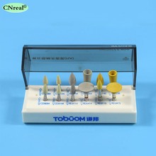 цена 1 set Dental Full Zirconia Teeth Trimmed High Brightness Polishing Kit for Low Speed Contra Angle Hand Tool RA0112D онлайн в 2017 году