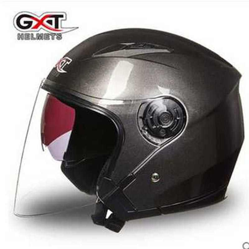 GXT двойной объектив половина шлем четыре сезона для мужчин и женщин мотоциклетный шлем Casco capacete