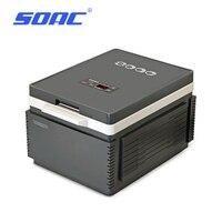 SOAC Portable Mute Design Dual core Mini Auto Fridge Truck Home Freezer Travel Car Refrigerator Cooling to 3 Degree