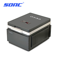 SOAC Portable Mute Design Dual core Mini Auto Fridge Truck Home Freezer Travel Car Refrigerator Cooling to 3 Degree