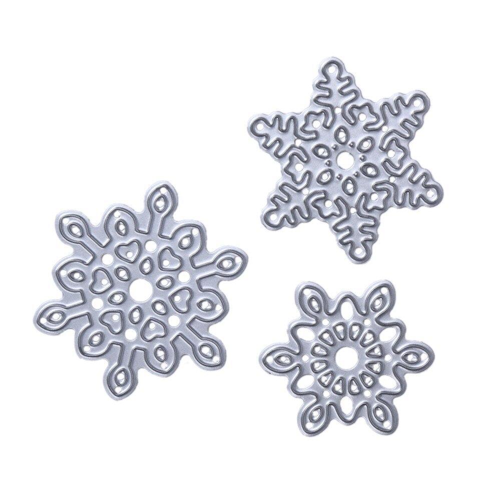 Pcs set cutting dies metal christmas snowflake