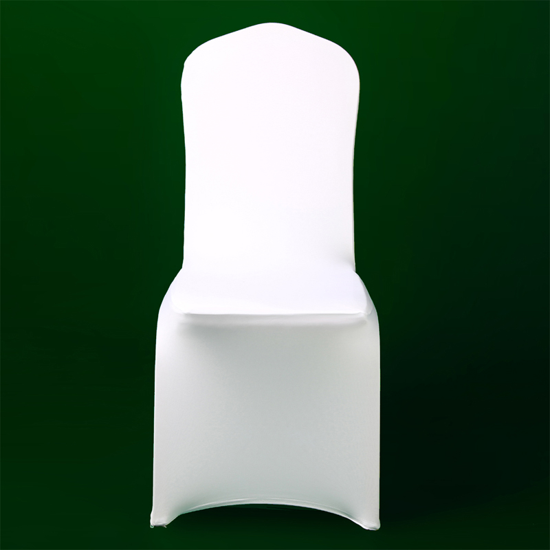 100PCS White Lycra Chair Cover Christmas Party Cheap Spandex Chair Covers Wedding Celebration Ceremony Elastic Seat Cover image