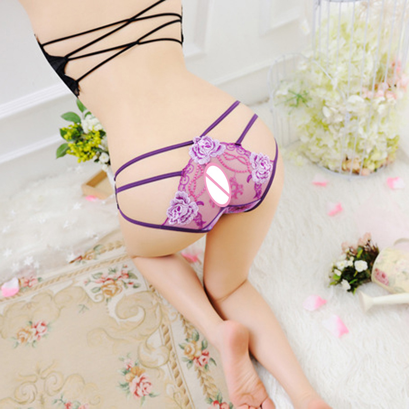 Women 39 s fashion high quality Panties sexy hollow Briefs embroidered women 39 s briefs perspective printed underwear in women 39 s panties from Underwear amp Sleepwears
