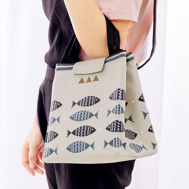 Fish Print Waterproof Oxford Lunch Bag 2