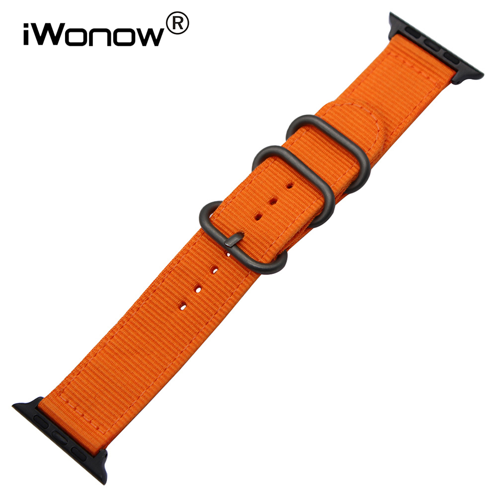 Genuine Nylon Watchband for 38mm 42mm iWatch Apple Watch / Sport / Edition Zulu Band Fabric Strap Wrist Belt Bracelet + Adapters artevaluce светильник подвесной branch 20х20 см