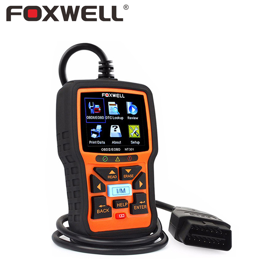 все цены на FOXWELL NT301 OBD 2 Automotive Scanner Car Engine Analyzer Error Code Reader Delete Clear OBD2 EOBD OBDII Auto Diagnostic Tool онлайн