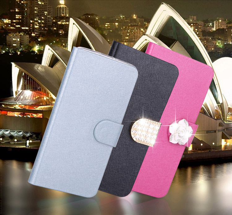 For Nokia X2 Luxury silk Pu Leather Wallet Stand Flip Cover Case For Nokia X2 Dual SIM RM-1013 X2DS Mobile Phone Bag