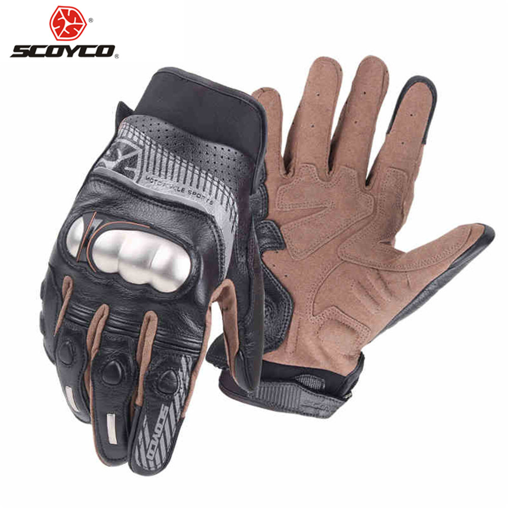 где купить Leather Metal Shell Motorcycle Gloves Perforate Carbon Fibre Protection Motocross Guantes Moto Bike Cycling Gear CE Approved по лучшей цене