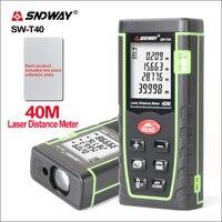 SNDWAY telémetro láser rango medidor de distancia 40m regla láser dispositivo buscador Mini medidor Digital láser distancia Sensor SW-T40