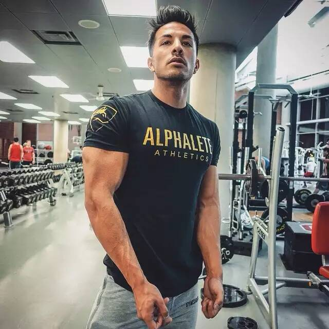 Drop Shipping ALPHALETE Gyms   t  -  shirt   mens fitness   t  -  shirt   fashion Bodybuilding   t     shirt   men fitness crossfit Summer   shirts