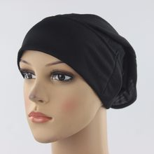 Soft Stretchble Muslim Beautiful Inner Hijab Caps Islamic Underscarf Hats Viscose Cotton(China)