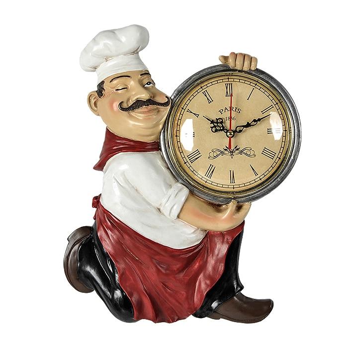 8inch Creative European retro chef kitchen restaurant wall clock clock wall art ornament personalized wall quartz clock quartz clock