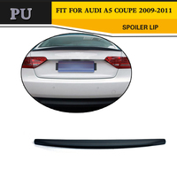 Car Rear Trunk Boot Custom Spoiler Lip Rear Wing For Audi A5 Coupe 2 Door standard Only 09 15 Blcak PU C Type