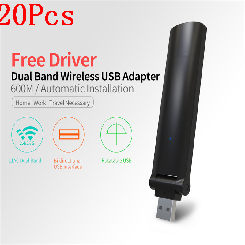 2017 New 20Pcs High Speed 600Mbps Mini USB Wireless Wifi Adapter Wireless LAN Network Card 802.11n/g/b WiFi Receiver Adaptador стоимость