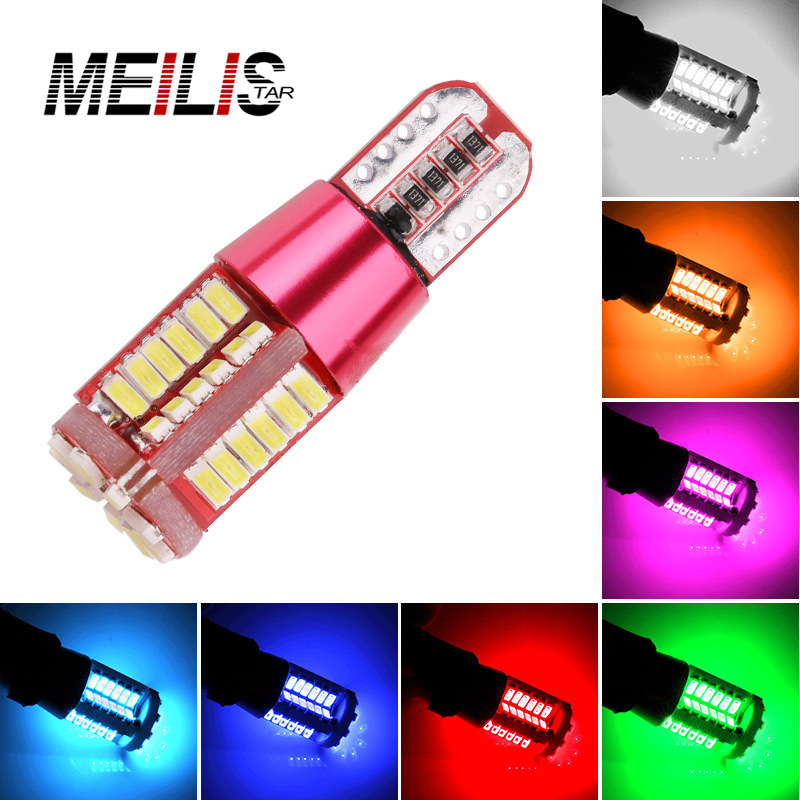 2PCS High Quality T10 501 W5W 168 57 SMD LED 3014 Car Auto Canbus Error Free Marker Lamp Clearance Lights Interior Light DC12V