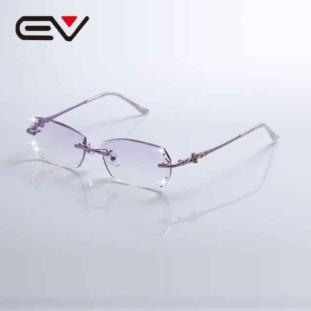 e7486e6257bf New Elegant Women Titanium Rimless Glasses