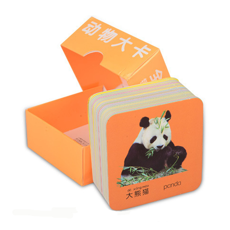 108pcs/set Kids Cards Chinese English Learning Word Books For Children Color Picture Memory Characters Animal Card 8*8cm