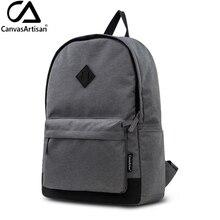 Canvasartisan nagelneue mens leinwand rucksack jugend student bookbag für teenager schultaschen männlichen reise laptop rucksäcke