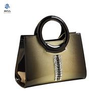 2019 Spring Famous brand luxury Design handbags Genuine Leather quality Women's Bag Patent Leather Shoulder Messenger Bag