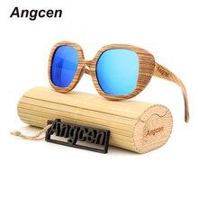 Angcen Holz Sonnenbrille Männer Luxus Marke Polarisierte Sonnenbrille Männer Spiegel Clip auf Sonnenbrille Oculos De Sol BA98