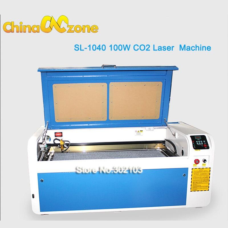 SL 1040 100W CO2 Desktop Laser Engraving Machine Cutting Machine Hobby Supplies Rotimatic RECI Laser Tube High Efficiency USB