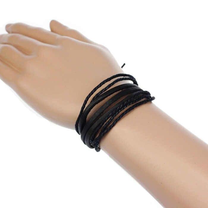 Kobiety bransoletka mężczyźni elastyczna bransoletka boho biżuteria stylowe skórzane bransoletki dla par wysokiej jakości Pulseras Mujer Moda 2019 BK L0607