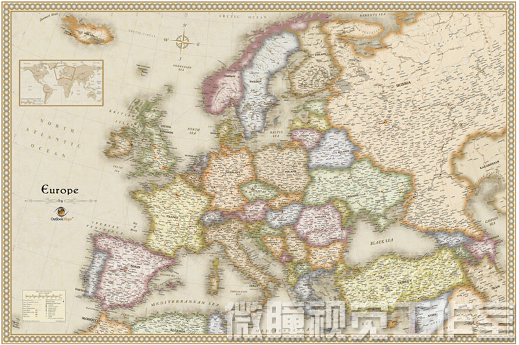 Aliexpress Buy English poster old design European Maps – European Travel Maps