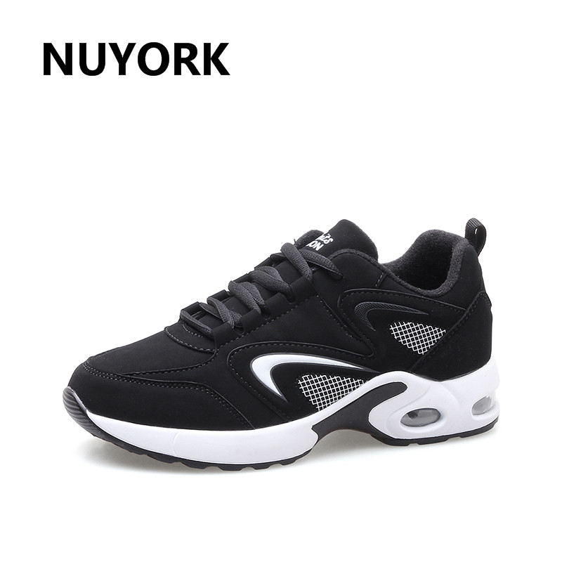 NUYORK  Hot sale sport shoes woman air cushion running shoes for women outdoor spring  sneakers women walking jogging trainers 2017brand sport mesh men running shoes athletic sneakers air breath increased within zapatillas deportivas trainers couple shoes