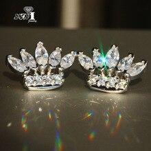 YaYI Jewelry Fashion Princess Cut 4.3 CT  White Zircon Silver Color long Ear Earrings wedding Party tassel Gifts