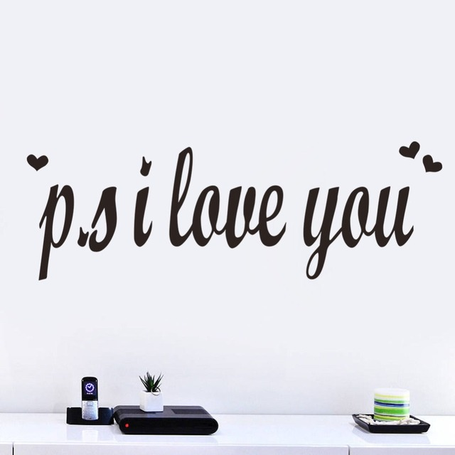 PS I Love You Romantic Vinyl Wall Sticker Bedroom Decor Quotes Decal Extraordinary Romantic Saying